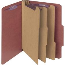 SMD 14092 Smead SafeSHIELD 3-Divider Classification Folders SMD14092