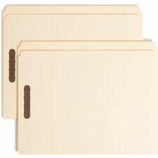 SMD 14513 Smead Straight Cut Tab File Folders w/ Fasteners SMD14513