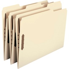 SMD 14547 Smead Recycled 2-Ply Manila Folders w/ Fasteners SMD14547