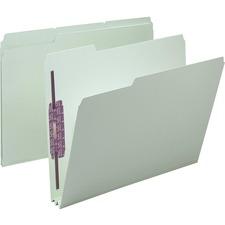 SMD 14934 Smead 1/3 Cut Pressboard File Folders w/ Fasteners SMD14934