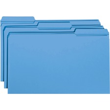 SMD 17034 Smead 1/3 Cut 2-ply Tab Colored File Folders SMD17034