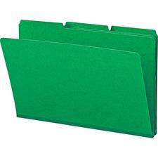 SMD 22546 Smead 1/3 Cut Colored Pressboard Tab Folders SMD22546