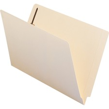 SMD 37110 Smead End-Tab Straight Cut File Folder w/Fasteners SMD37110