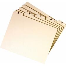 SMD 50176 Smead A-Z Manila Self Tab File Guides SMD50176
