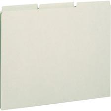 SMD 50334 Smead 1/3 Cut Pressboard Blank Self Tab Guides SMD50334
