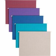 SMD 64056 Smead 1/5 Cut Adj. Tab Colored Hanging Folders SMD64056
