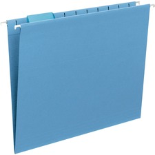 SMD 64060 Smead 1/5-cut Poly Tabs Colored Hanging Folders SMD64060