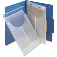 """Smead Letter, Legal File Jacket - 8 1/2"""" x 14"""" , 8 1/2"""" x 11"""" - 100 Sheet Capacity - 3/4"""" Expansion - 1 Divider(s) - Polypropylene - Clear - 24 / Box"""
