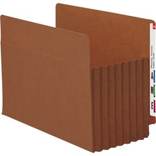 """Smead Tuff Pocket End Tab File Pockets - Letter - 8 1/2"""" x 11"""" Sheet Size - 7"""" Expansion - Straight Tab Cut - 16.5 pt. Folder Thickness - Redrope - Redrope - Recycled - 5 / Box"""