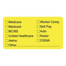 TAB 02940 Tabbies Medical Office Insurance Check Labels TAB02940