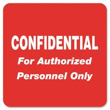 TAB 40570 Tabbies Confidential Auth. Personnel Only Label TAB40570