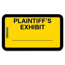 TAB 58094 Tabbies Plaintiff's Exhibit Legal File Labels TAB58094