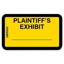 TAB 58094 Tabbies Plaintiff's Exhibit Legal File Labels TAB58094