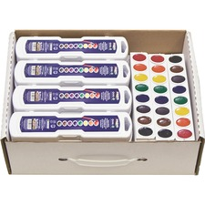 DIX 08020 Dixon Prang Oval Watercolor Master Pack DIX08020
