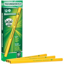DIX 13080 Dixon Ticonderoga Oversized Beginner Pencil DIX13080
