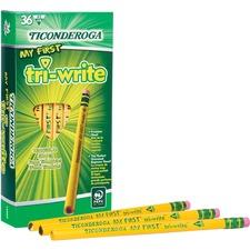 DIX 13082 Dixon Ticonderoga Tri-Write Beginner No. 2 Pencils DIX13082