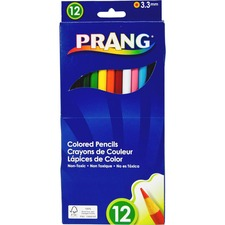 Prang Colored Pencils - Assorted Lead - Assorted Barrel - 12 / Set