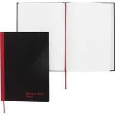JDK E66857 Black n' Red Casebound Ruled Notebooks JDKE66857