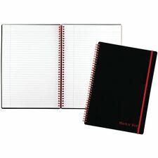 JDK E67008 Black n' Red Wirebound Poly Notebook w/front Pkt JDKE67008