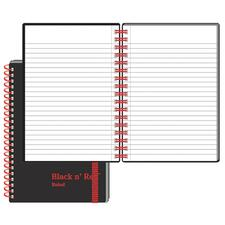 JDK F67010 Black n' Red Poly Twin Wire Notebook JDKF67010