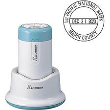 XSTN85 - Xstamper Small 4-Line Custom Round Dater