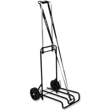 "Stebco Luggage Cart - Telescopic Handle - 113.40 kg Capacity - 6"" (152.40 mm) Caster Size - Steel - 15.5"" Width x 19"" Depth x 44.5"" Height - Steel Frame - Chrome"