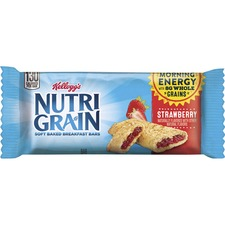 Kellogg's® Nutri-Grain® Bar Strawberry - Low Fat - Strawberry - 16 / Box
