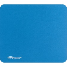 "Compucessory Smooth Cloth Nonskid Mouse Pads - 9.50"" (241.30 mm) x 8.50"" (215.90 mm) Dimension - Blue - Rubber Base, Cloth"