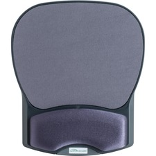 """Compucessory Gel Wrist Rest with Mouse Pads - 8.70"""" (220.98 mm) x 10.20"""" (259.08 mm) x 1.20"""" (30.48 mm) Dimension - Charcoal - Gel, Lycra"""