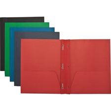 SPR 71440 Sparco 2-Pocket Folders w/ Fasteners SPR71440