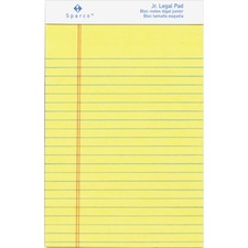 SPR 2058 Sparco Canary Paper Junior Writing Pads SPR2058