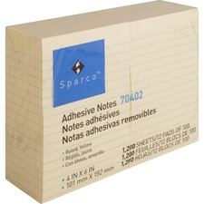 SPR 70402 Sparco Ruled Adhesive Notes SPR70402