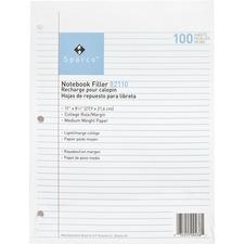 SPR 82110 Sparco Notebook Filler Paper SPR82110