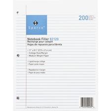 SPR 82120 Sparco Notebook Filler Paper SPR82120