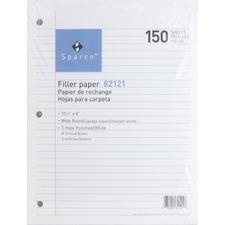 SPR 82121 Sparco 3HP Notebook Filler Paper SPR82121
