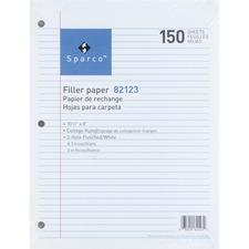 SPR 82123 Sparco 3HP Notebook Filler Paper SPR82123