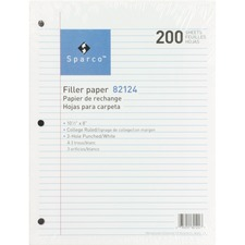 SPR 82124 Sparco 3HP Notebook Filler Paper SPR82124