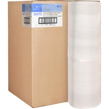 "Sparco Stretch Wrap Film - 15"" (381 mm) Width x 1500 ft (457200 mm) Length - 4 Wrap(s) - Heavyweight - Clear"