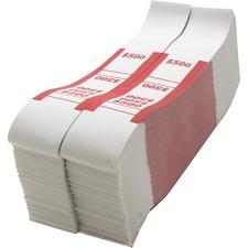 SPR BS500WK Sparco White Kraft ABA Bill Straps SPRBS500WK