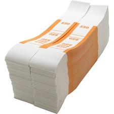 SPR BS50WK Sparco White Kraft ABA Bill Straps SPRBS50WK