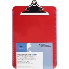 SPR 01864 Sparco Plastic Clipboard SPR01864