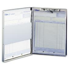 "Sparco Form Holder Storage Clipboard - 0.5"" Capacity - 30 - Side Opening - 8.5\"" x 12\"" - Aluminum - Aluminum"