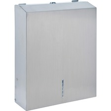 Genuine Joe C-Fold/Multi-fold Towel Disp. Cabinet