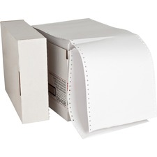"Sparco Continuous Paper - 9 1/2"" x 11"" - 20 lb Basis Weight - 0% Recycled Content - 2300 / Carton - White"