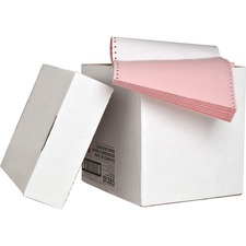 "Sparco Dot Matrix Continuous Paper - Letter - 8 1/2"" x 11"" - 15 lb Basis Weight - 1200 / Carton - Assorted"