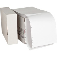 "Sparco Continuous Paper - 8 1/2"" x 11"" - 20 lb Basis Weight - 2550 / Carton - White"