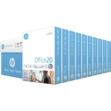 "HP Papers Office20 8.5x11 Inkjet Copy & Multipurpose Paper - White - 92 Brightness - Letter - 8 1/2"" x 11"" - 20 lb Basis Weight - FSC"