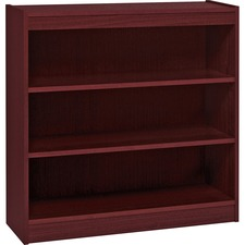 LLR 60071 Lorell Panel End Mahog. Hardwood Veneer Bookcases LLR60071