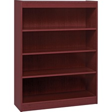 LLR 60072 Lorell Panel End Mahog. Hardwood Veneer Bookcases LLR60072