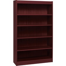 LLR 60073 Lorell Panel End Mahog. Hardwood Veneer Bookcases LLR60073
